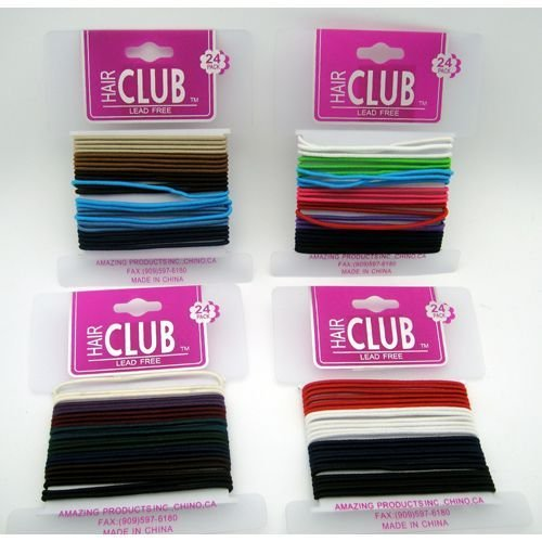 24Pk Solid Color Elastic Band 48 pcs sku# 893932MA by DDI (Image #1)