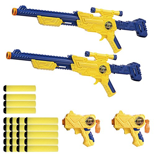 X-Shot - Set 2 pistolas & 12 dardos & 6 medias latas (ColorBaby 44216): Amazon.es: Juguetes y juegos
