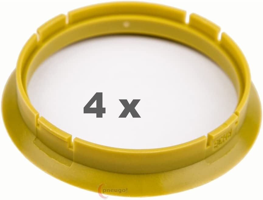 4 X Zentrierringe 72 5 Auf 66 6 Gelb Yellow Auto