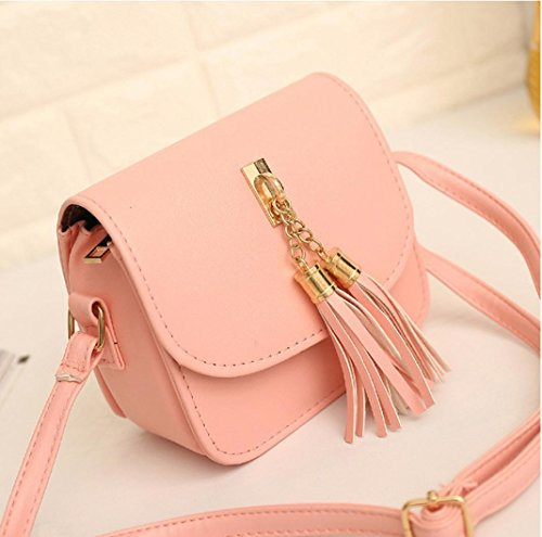 Women Candy Bag Bags KIMODO Chains Handbag Messenger Small Shoulder Tassel Bag Pink 1xxwZqf