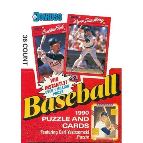 1990 Donruss Baseball Card Wax Pack Box (36 Count)