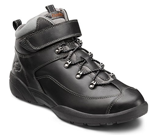 Dr. Comfort Men's Ranger Black Diabetic Hiking Boots