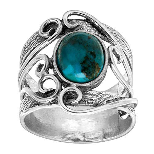 Silpada 'Now You Sea Me' 1 ct Compressed Turquoise Ring in Sterling Silver