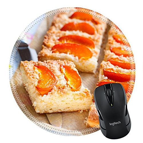 MSD Natural Rubber Mousepad Round Mouse Pad 21796507 Coconut apricot tart ()