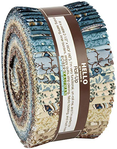 (Carrie Quinn Charlotte 1860 Roll Up 40 2.5-inch Strips Jelly Roll Robert Kaufman Fabrics RU-804-40)