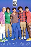 One Direction Signatures Blue Poster 24 x 36in