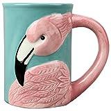 """Young's17216 Beach Time Flamingo Ceramic Mug, 5.25"""" x 3.25"""" x 4.5"""""""