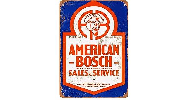 Ellis American Bosch - Letrero de Metal para Tienda de ...