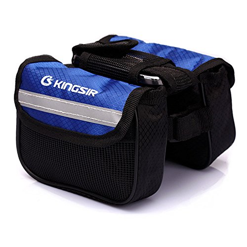 BXT Cycling Frame Pannier Top Tube Double Side Bike Bag Blue