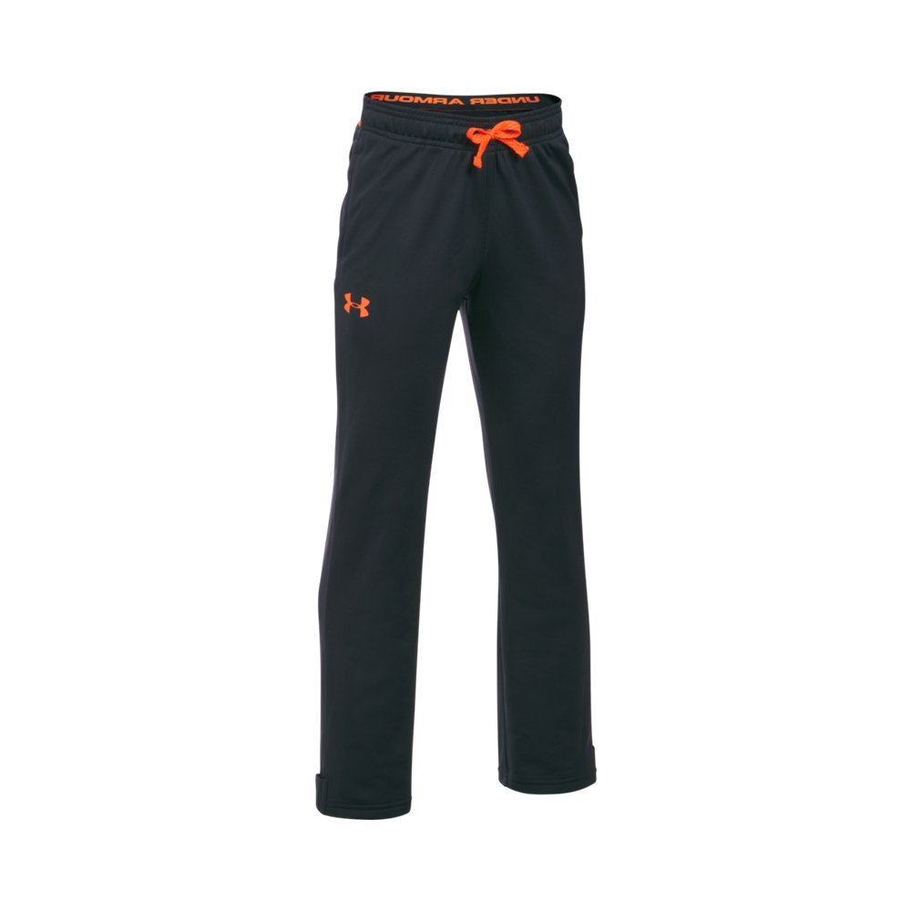 Under Armour Boys' Brawler Slim Pants,Anthracite (016)/Magma Orange, Youth Small by Under Armour