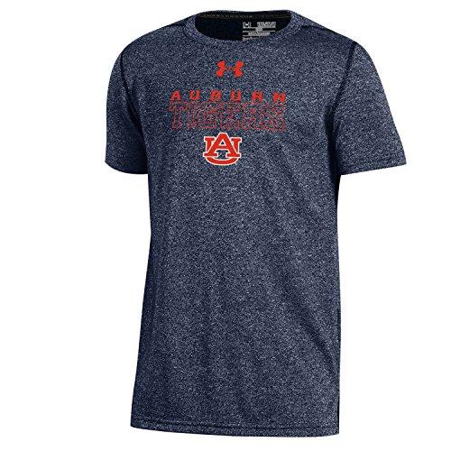 (Under Armour NCAA Auburn Tigers Boys Threadborne Short Sleeve Performance Tee, X-Large, Navy)