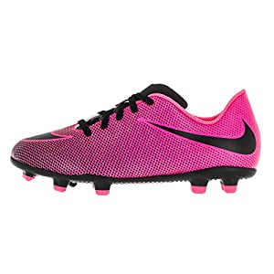 NIKE Jr. Bravata II (FG) Firm-Ground Soccer Cleat Pink Blast/Black Size 4.5 M US