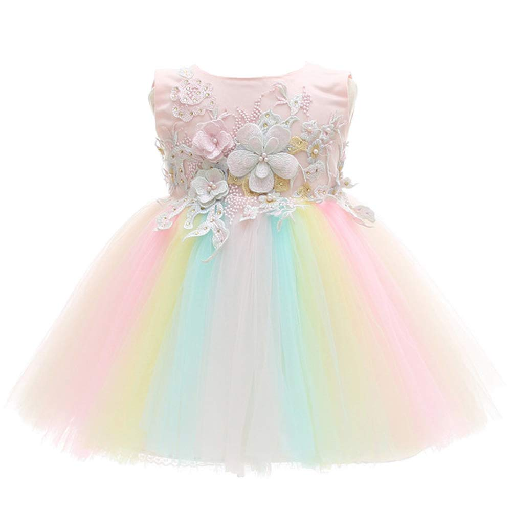 Coozy Baby Girls Dress Infant Princess Christening Baptism Party Birthday Formal Dress