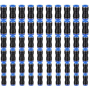 60PCS Quick Release Pneumatic Connectors 6mm //8mm //10mm Straight Push Connectors Tube Fittings Apply to 1//4 5//16 3//8 Inch Tube