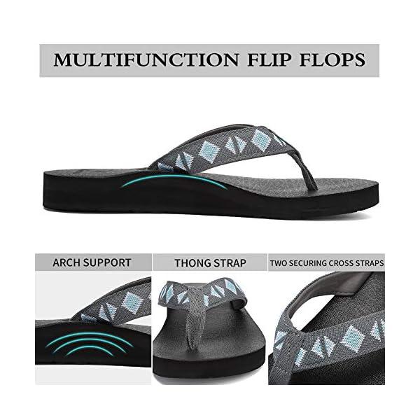 Women's Original Sandals Sport Sandals with Yoga Mat Insole Hiking Sandals Light-Weight Shoes