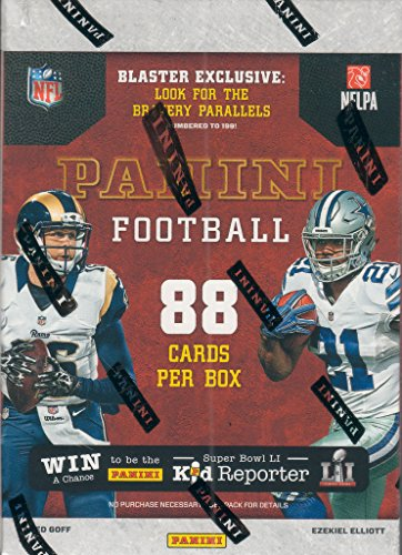 2016 Panini NFL Football Unopened Retail Box of Packs with One AUTOGRAPHED or MEMORABILIA Card and Blaster EXCLUSIVE Bravery Parallel, 88 Cards per Box in All (Baseball Athletic Uniforms Russell)