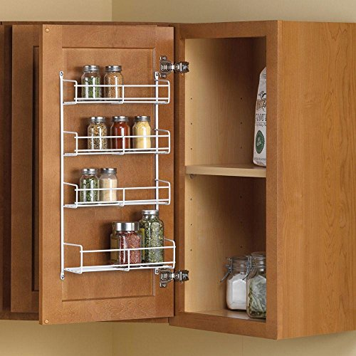 11.25 in. x 4.69 in. x 20 in. Door Mount Spice Rack Cabinet Organizer by Real Solutions for Real Life
