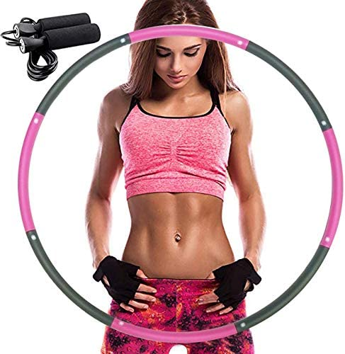 REDSEASONS Exercise Hoop for Adults,Lose Weight Fast by Fun Way to Workout,Easy to Spin, Premium Quality and Soft Padding Exercise Hoop,with Free Accessory Skipping Rope 1