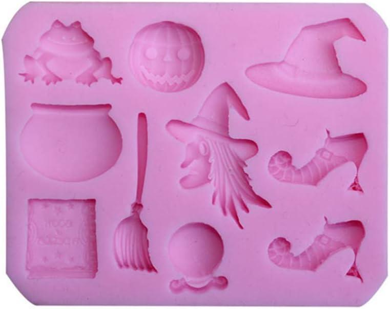Moulle /à Bonbon Halloween Citrouille 8,4 x 6,7 x 0,9 cm Moulle /à Chocolat Silicone Manyo