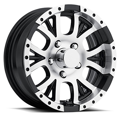 SENDEL T13 ALUMINUM TRAILER WHEEL WITH BLACK MACHINED FINISH 14X5.5 5X4.50(114.3)  +0 - Wheel Aluminum Machined