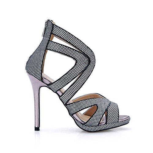 Zapatos En Femenino Banquete Mujer De Anual Hermosos Sandalias Black Verano El Reunión Y La Del Europa Show Talón Nueva Alto wZEUE5qCa