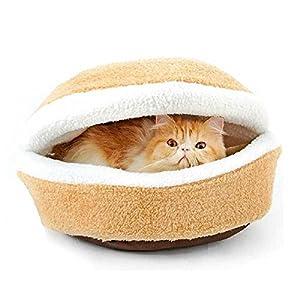Amazon.com : Cat Hamburger Bed Novelty Hamburger Design