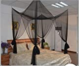 Is There a Bigger Bed Than a King Size Kuke Mosquito Net,Bed Net Cover,4 Corner Post Mosquito Net,Suitable For A Large/Small/Baby Bed,Healthy Mosquito Repellent Equipment (Black)