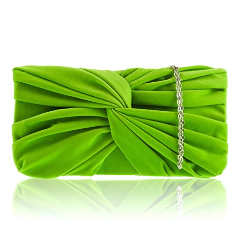 New Zarla Party Bridal Bag Light Suede Womens Faux Clutch Green Evening Designer Prom Girl Ladies wzfr7vwq