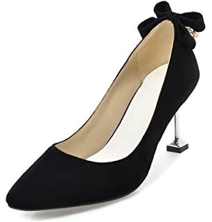 SHOWHOW Damen Elegant Nubuk Spitz Stiletto High Heels Pumps Schwarz 37 EU 7SWC5C