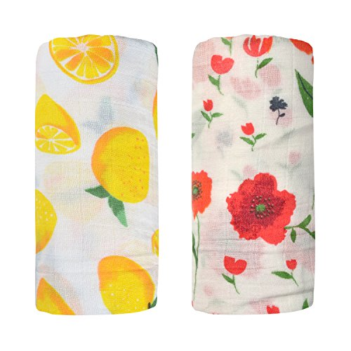 Bamboo Muslin Swaddle Square Blankets - 2 Pack 47