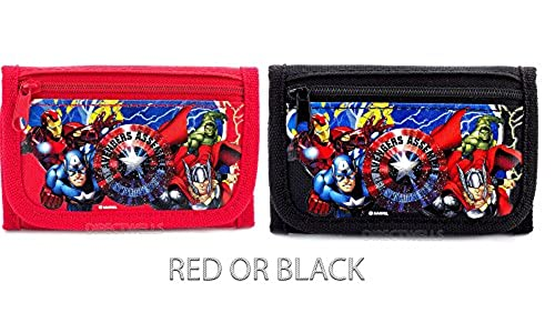 09. Marvel Avengers Red or Black Trifold Wallet Randomly - 1 WALLET