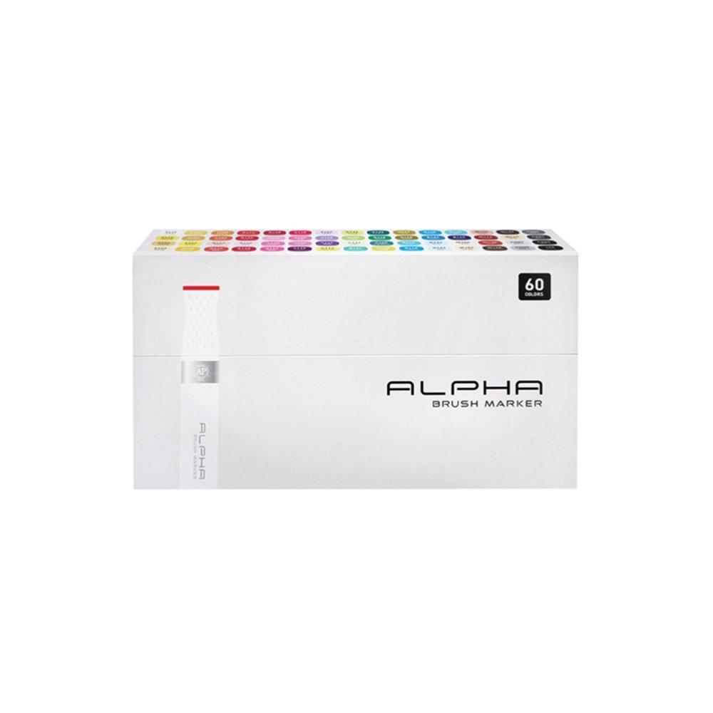 Alpha EF 60er Brush Set Grafikmarker Pens Stifte Set Box Design Marker by Alpha EF