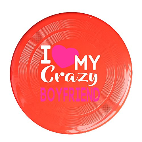 Uhouq I Love My CRAZY BOYfriend Frisbee Size One Size - Buy Bans Wholesale Ray