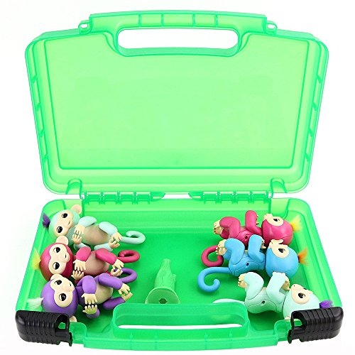 Price comparison product image Toy Storage Organizer Compatible With Finger Baby Monkeys Durable Carrying Case Green Bag