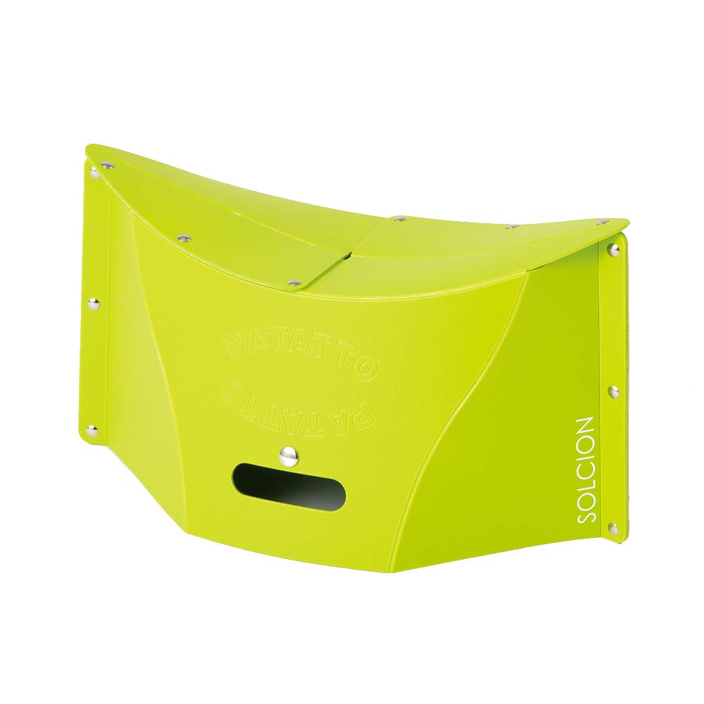 SOLCION Portable Folding Stool for Camping, Fishing, Hiking. 200 Model, Lightweight 0.475kg, Load Capacity 100Kg. Easy to Carry and Store. Suitable for Adults and Kids Indoors or Outdoors(Green Medium by SOLCION
