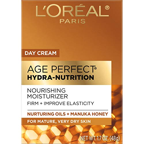 51Sos nU%2B7L - Night Cream by L'Oreal Paris, Age Perfect Hydra-Nutrition Night Balm Face Moisturizer with Manuka Honey Extract and Nurturing Oils to Comfort and Improve Resilience on Dry Skin, Paraben Free, 1.7 oz.