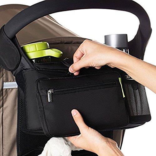 Conversancy Baby's Gift !Baby Stroller Multi-Purpose Mom , Fits All Strollers, Premium Deep Cup Holders, Extra-Large Storage Space for iPhones, Wallets, Diapers, Books, Toys, & iPads by Conversancy (Image #2)