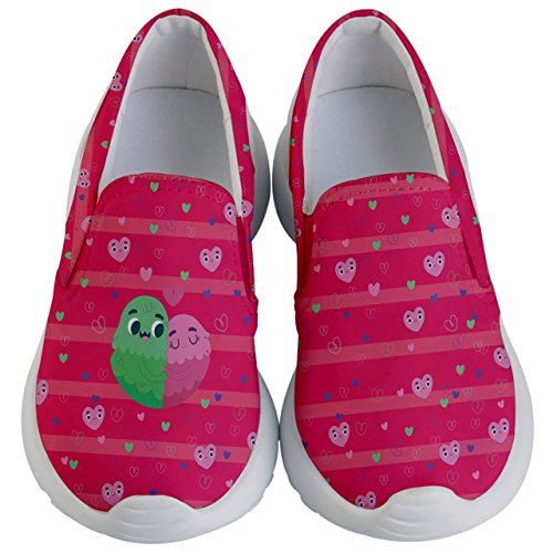 PattyCandy Kids Slip On Cute Couple & Hearts Lightweight Casual Shoes-US 6Y by PattyCandy