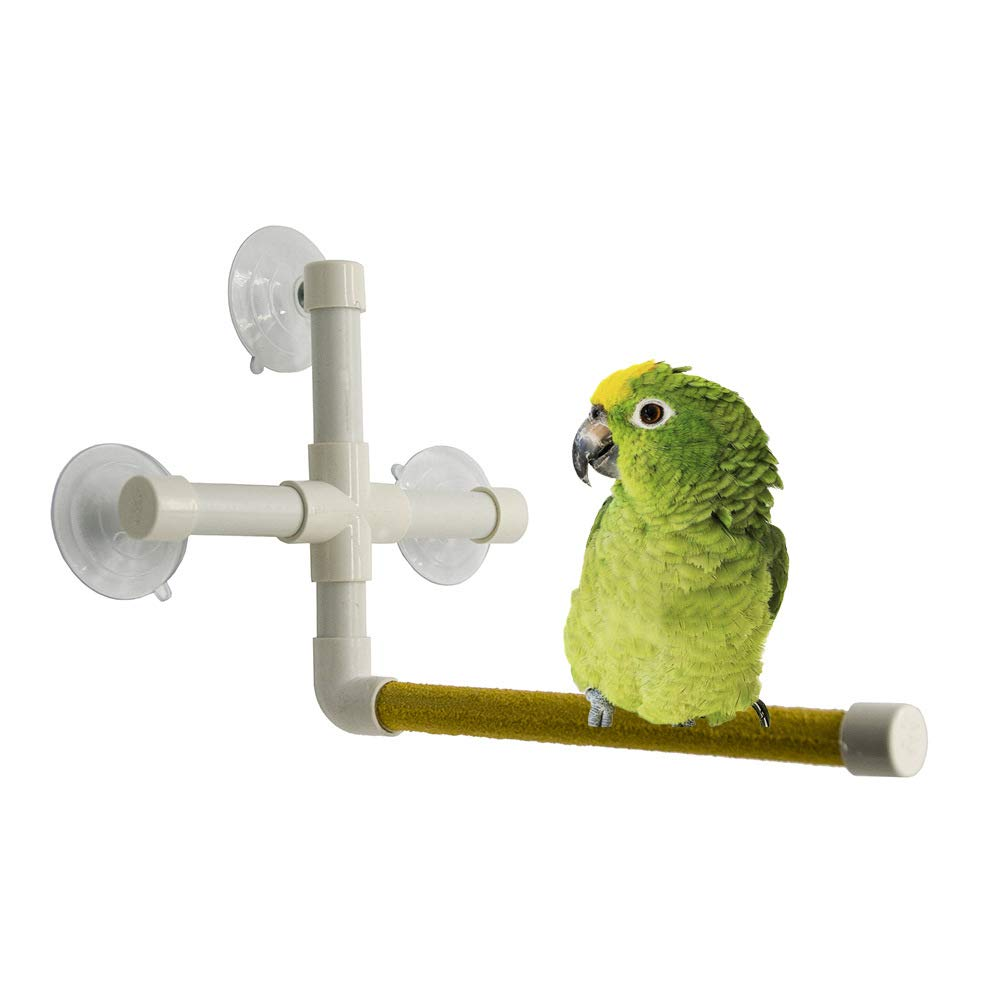 Pet Online Bird Bathing Scrub Station Parred Toy