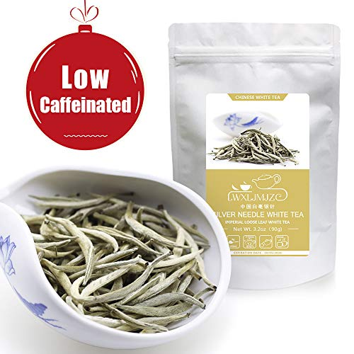 Li Da Tea House-Imperial Silver Needle White Tea | Chinese Silver Tips White Tea | Bai Hao Yin Zhen White Tea -Loose Leaf Tea - Caffeine Level Low-3.2oz/90g