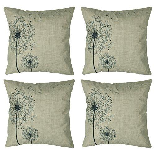 Luxbon Set of 4Pcs Morden Stylish Simplicity Dandelion Flora