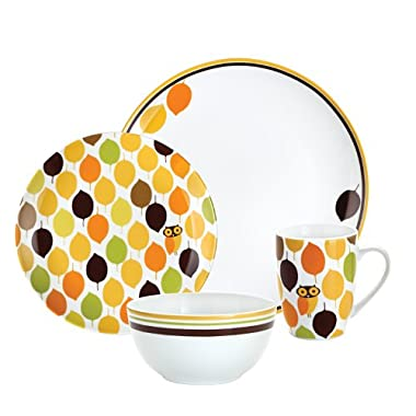 Rachael Ray Dinnerware Little Hoot 4-Piece Dinnerware Place Setting