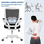 Yaheetech Adjustable Arm Chair Ergonomic Desk Chair Mesh Office Chair Mid Back Study Task Chair with Comfort Breathable…
