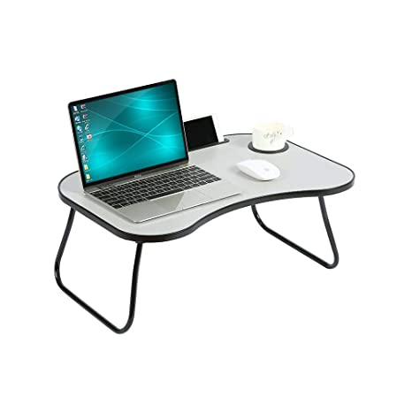 Enjoyable Home Bi Laptop Table Portable Standing Desk Foldable Sofa Breakfast Tray Notebook Stand Reading Holder Bed Writing Desk With Cup Holder Pen Evergreenethics Interior Chair Design Evergreenethicsorg