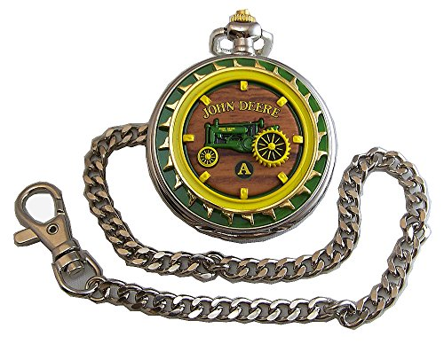 John Deere Franklin Mint Pocket Watch Model A Tractor LE, New -  FMJDMdA
