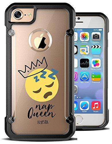 51SoswNQVvL amazon com iphone 7 case funny nap queen emoji girly meme hybrid