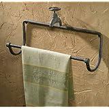 Park Designs Water Faucet 17in Towel Bar Green Patina
