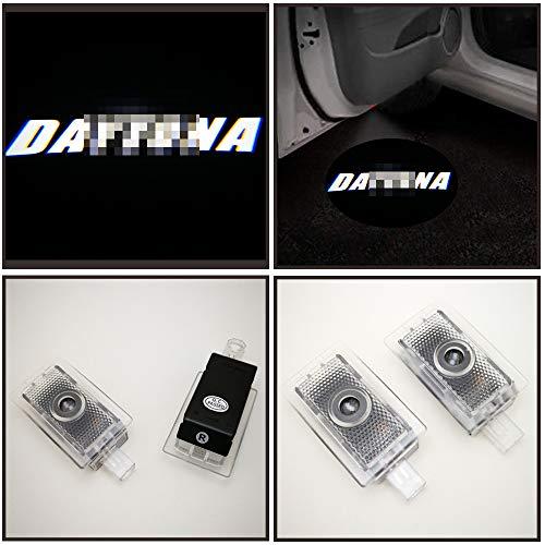 2pcs set car Door Courtesy Projector Puddle Logo Lights for Dodge Charger 2006-2019 white LED Daytona logo,no fading color glass slides,plug and play installation