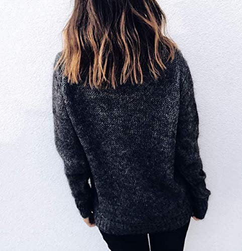 Col Chic Chaud Tricots Lache Hoodies Longue Noir Pull Sweater Femme Blouse ASSKDAN Manche Haut Tops Chandail fxaEWqH