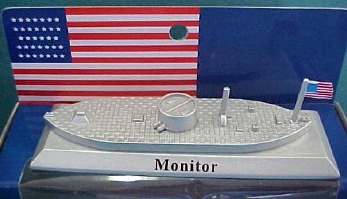 Bmc025az Uss Monitor (5'' Long) (25mm) Toy Soldier Action Figure Model War Military Plastic (Merrimack Model)